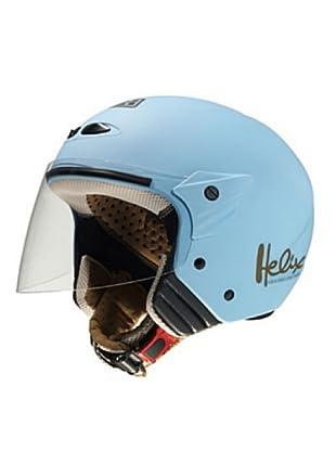 NZI Casco Abierto Pantalla Helix Gac (Azul Cielo)