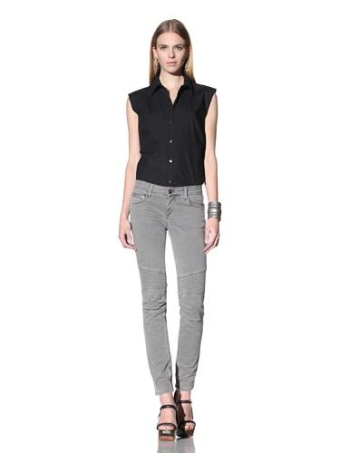 Rockstar Women's Biker Twill Pant (Grey)