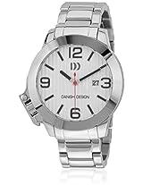 Iq62Q915 Silver/White Analog Watch