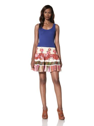 Dallin Chase Women's Mario Mini Flared Skirt (Multi)