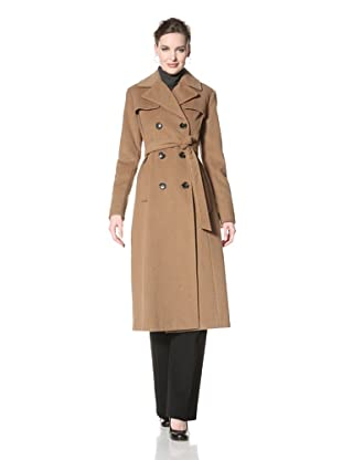 Ellen Tracy Women's Double-Breasted Jacket (Caramel)