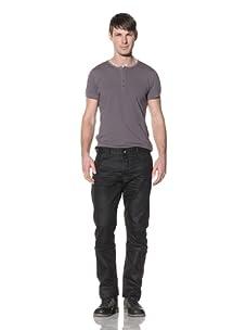 Projek Raw Men's Slim Twisted Leg Jean (Black)