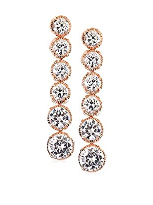 CZ by Kenneth Jay Lane Graduated Round CZ Post Earrings