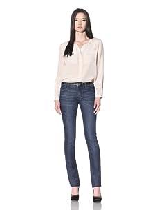 DL 1961 Premium Denim Women's Grace Hi Rise Slim Straight Jean (Surf)