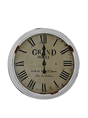 Tomasucci Wanduhr Grand Hotel weiß
