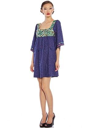Custo Vestido Norry (Azul / Violeta)