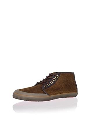 Tretorn Men's Krona Mid Leather Chukka Sneaker (Sundown Brown)