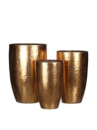 Concept Luxury Dekovase 3er Set goldfarben