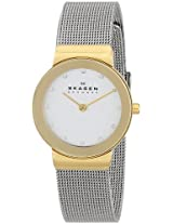 Skagen Analog White Dial Women's Watch - 358SGSCD