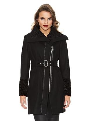 Guess Mantel Reißverschluss (Schwarz)