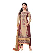 Adah Semi Stitched Georgette Salwar Kameez -594-9006