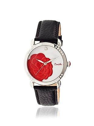 Bertha Women's BR4601 Daphne Black/White Leather Watch