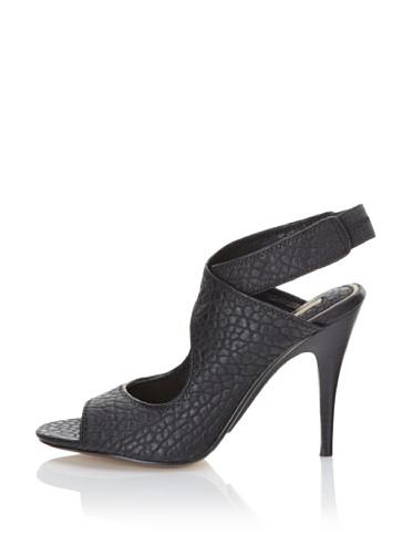 MaxStudio Women's Erica Ankle-Strap Sandal (Black)