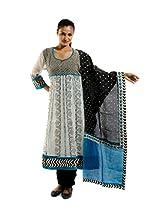 Kaalika Women's Cotton Salwar Suit (K-787-Freesize-off-White/Blue _Blue _Free Size)