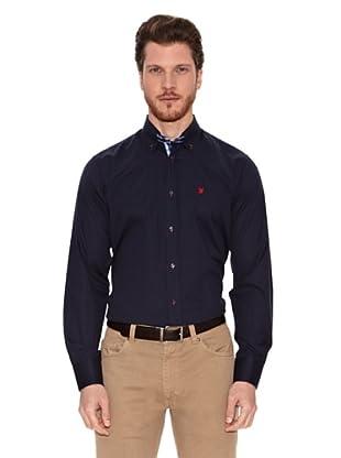 Polo Club Camisa Semientallada Alachua (Azul Marino)