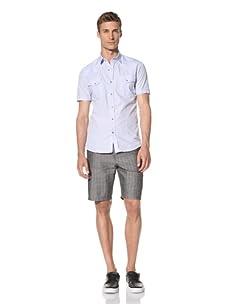 Dorsia Men's Daniel Short Sleeve Shirt (Light Blue)