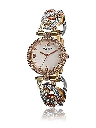 Akribos XXIV Reloj de cuarzo Woman AK756TRI Plateado / Rosado / Dorado