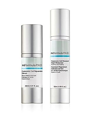 MD FORMULA  Beauty-Set 2 tlg. Hyaluronic Cell Hydration Night Moisturiser, Hyaluronic Cell Rejuvenation Serum