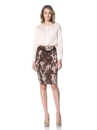 Just Cavalli Women's Brown Animal Print Skirt (Brown Animal Print)