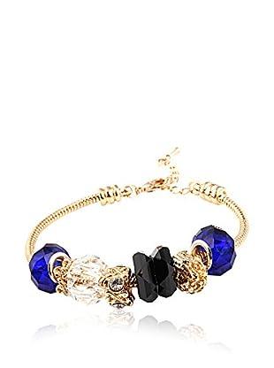 Chamay Armband  blau/schwarz/goldfarben