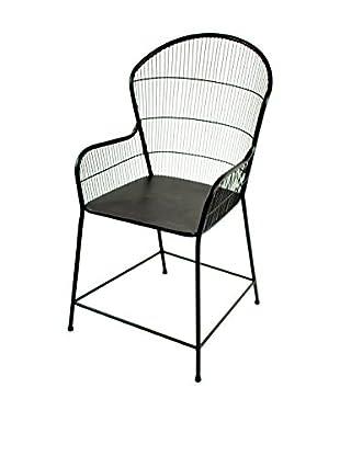 Winward Windsor Iron Chair, Distressed Brown