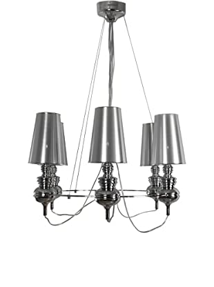 Control Brand Tiffany Suspension Lamp, Silver