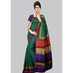 Green Bhagalpuri Silk Saree