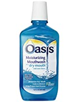Oasis Moisturizing Mouthwash - For A Dry Mouth - Mild Mint - 16 Fl Oz - 473 Ml