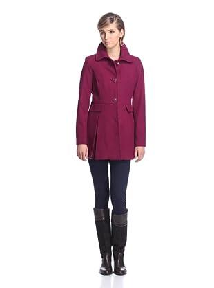 Kensie Women's Skirted Coat (Berry)