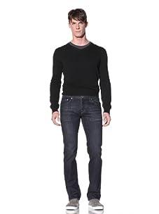 William Rast Men's Luke Straight Jean with Flap Back Pocket (Ria)