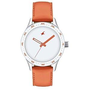 Fastrack Monochrome Analog White Dial Women's Watch - 6078SL04