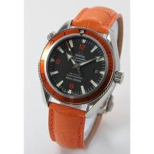 【クリックでお店のこの商品のページへ】[オメガ]OMEGA 腕時計 シーマスター プラネットオーシャン 42mm コーアクシャル クロノメーター アリゲーターレザー オレンジ/ブラック オレンジベゼル 2909.50.38 メンズ [並行輸入品]