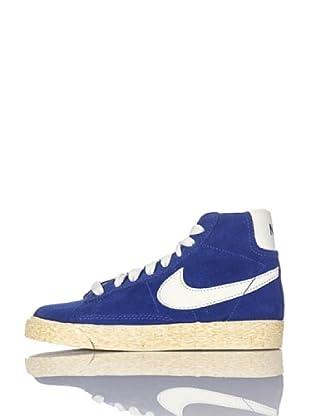 Nike Zapatillas Blazer Mid Vintage (Ps) (Azul/Blanco)