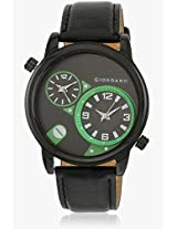 6005811640 Black/Green Analog Watch Giordano