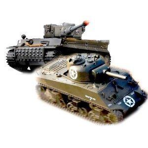 対戦型 RCバトルタンク戦車 2台セット ジオラマ付き MI-BATTLE-T