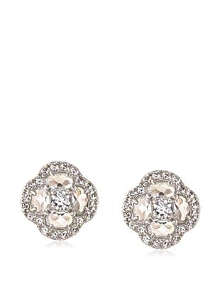 Belargo Silver Clover Stud Earrings
