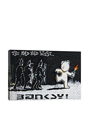 Banksy Mild  West Gallery Wrapped Canvas Print