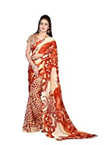 MemSahiba Women Printed Semi Chiffon Saree (MS-1265_Multi colored)