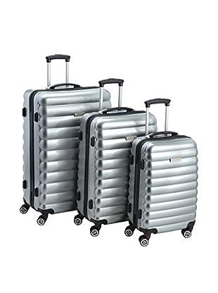 Luggagezone Hartschalen Trolley Upright silberfarben 77 cm