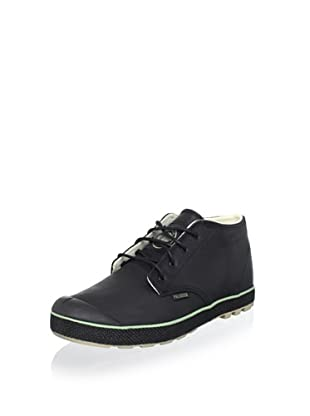 Palladium Men's Slim Leather Chukka Boot (Black/Safari)