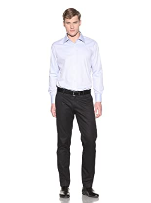 Valentino Men's Dress Shirt (Light Blue Chevron)