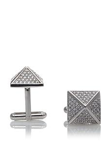 nOir Men's Pyramid Cufflinks, Silver