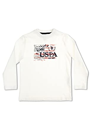 US Polo Assn Camiseta Junior USA Flag (Blanco)