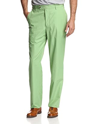 Oxxford Men's Solid Poplin Pant (Green)