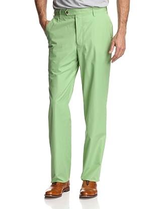 Oxxford Men's Solid Poplin Pant (Green)