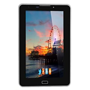 HCL ME V1 Tablet (4GB, WiFi, 2G, Voice Calling), Metallic Grey