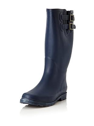 Chooka Women's Signature Solid Dual Buckle Rain Boot (Navy)