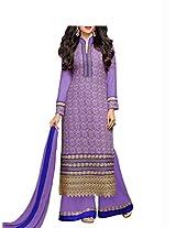 Admyrin Women's Purple Georgette Salwar Kameez