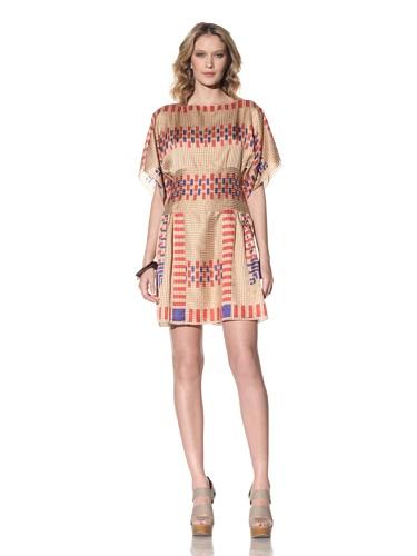 Anna Sui Women's Ikat Printed Dress (Beige)