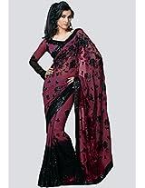 Embellished Purple Saree Sareez
